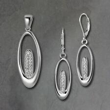 Parure con diamanti e gemme bianchi ovale