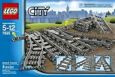 NEW LEGO City Trains 7895 Switch Tracks, with 2 switch track and 4 curved rails