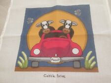 New ListingCattle Drive-Annie Lane-Handpainted Needlepoint Canvas