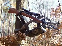 Tree Stand Gun Holder (Bar Mount) - Drill Model