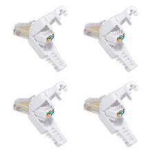 4x rj45 stecker CAT 7/ 6/ LAN Stecker zur werkzeuglose Montage mit Knickschutz