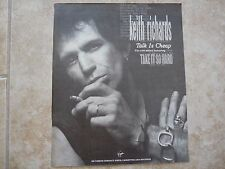 Keith Richards Rolling Stones Talk Is Cheap Solo LP 9.5 x 12 Magazine Photo Ad