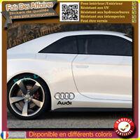 4 stickers autocollant Audi Bas de caisse A3 A6 A4 TT RS TTS Q3 Q5 Q7 ou vitre