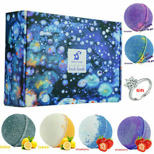 6pc 2.8oz Swan Star Bath Bombs Fizzing Shower Balls Soap with Adjustable Ring