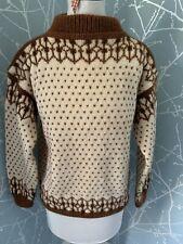Vintage Heavy Wool Norweigian Icelandic Jumper Small- Med