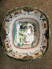 Early Mason's Antique English Ironstone Footed Bowl