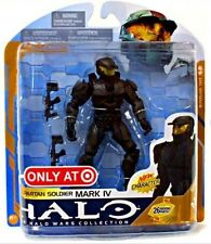"""Target exclusive Halo 3 Series 8 """"Black Mark IV"""" Action Figure, Xbox new RARE"""