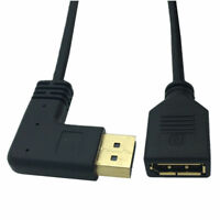 30cm 90 degree Right Left Angle Displayport Male to Display Port Female DP Cable