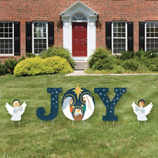 Big Dot Of Happiness Holy Nativity - Yard Sign Outdoor Lawn Decorations - Manger