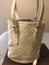 AUTH Louis Vuitton Monogram Mini Lin Bucket PM With Pouch  Dustbag and Box