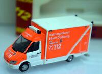 Rietze H0 1:87 RIEA048421 MB Sprinter Kasten Rettungsdienst Stadt Duisburg