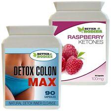 Raspberry Ketones 90 + Detox Colon Max Régime Amincissant