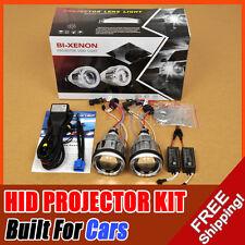 "3.0"" Universal Headlight BI-Xenon HID Projector Lens Kit Angel Eye Halo 6000K"