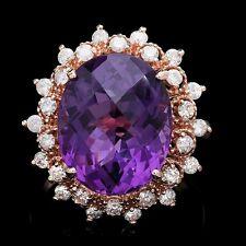 14k amethyst diamond ring 9.5ctw $6900 appraisal  Jaqu De lili