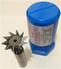 """New Niagara Dovetail Cutter Edp# 12520 Dia 1-3/8 - 45°, Shk 5/8 Oal 3"""" 10 Teeth"""