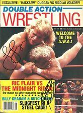 EB1301 Lex Luger Butch Reed  signed Vintage Wrestling Magazine w/COA  **BONUS**