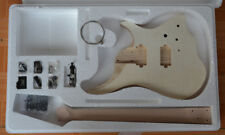 Headless Electric Guitar DIY Kit No-Solder  ASH body maple Neck and Fingerboard