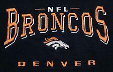 Vintage 1990s Denver Broncos NFL Embroidered Logo 50/50 Mens XL Sweatshirt