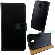 Custodia FLIP cover NERA per Motorola Moto X (2nd Gen) X2 case stand BOOKLET