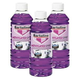 3 X 500 ML Bartoline Methylated Spirit Fuel Burners Camping Stoves (PACK OF 3 )