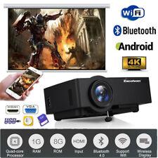 4K Video WiFi Android6.0 BT Projektor Heimkino Beamer Multi-screen für Handy PC