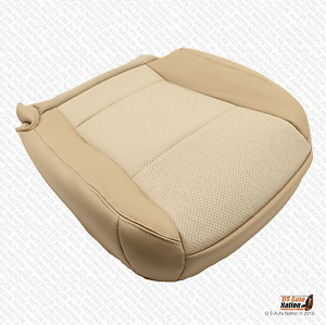 2007 Mercury Mountaineer Driver Side Bottom Leather Seat Cover Two-Tone Tan