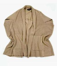 Banana Republic Camel Wool Blend Open Front Poncho Cardigan Sweater Size M/L EUC