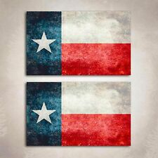 Texas Flag Distressed Decal State Lone Star Sticker Cowboy Graphic 2 Decals