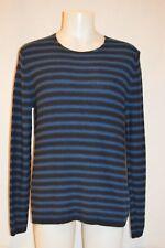 VINCE Premium Man's Stripe Cable Crew Neck Sweater NWT Size Large Retail
