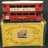 Matchbox Yesteryear Y3 Series 1 Is.4 1907 London 'E' Class Tramcar w *Type A Box