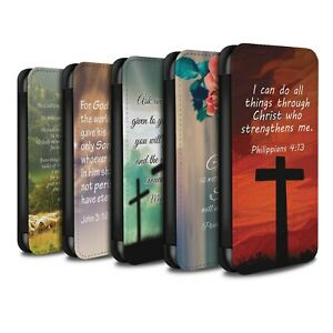 STUFF4 PU Leather Case/Cover/Wallet for Huawei P20 Lite/Christian Bible Verse