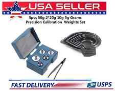 DIGITAL SCALE CALIBRATION KIT 5 PC SET MEASURING PANS & 5 PC WEIGHT STORAGE CASE