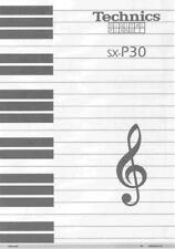 Technics SX-P30 Digital Piano Owners Instruction Manual Reprint