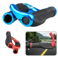 Ergonomic MTB Mountain Bike Handlebar Bicycles Rubber Bar End Grips Lock-On Ends