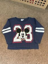 Mickey Mouse Blue  Crop Top Ladies