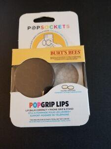 POPSOCKETS PopGrip Lips BURT'S BEES Phone Grip Stand & LIP BALM Night Hive