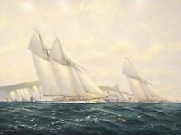 Seascape Yacht Race Oil Painting Michael Whitehand (1941- )to $20,000 Maritime