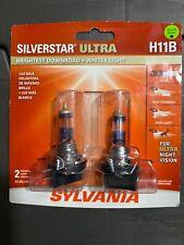 SYLVANIA SilverStar Ultra H11B Halogen Bulbs Dual Pack of 2, NEW, SEALED L@@K !!