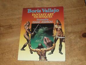 BORIS VALLEJO FANTASY ART TECHNIQUES GLOSSY PAPERBACK BOOK PAPER TIGER