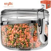 Food Storage containers canister Air Tight Canisters with lids  28 oz Kryllic