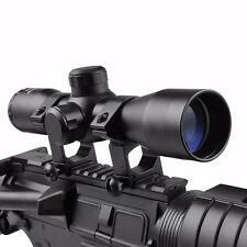 Tactical 4X32 SPORTS AIM Compact 223 308 Rifle Scope /w Ring Reticle Rangefinder