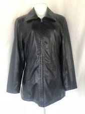 MUUBAA Black Leather Jacket Size US 4