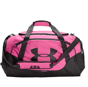 Under Armour Adult Undeniable Duffle Bag 3.0 Gym Bag Pink Handle 1300213 691