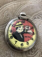 1960s Rare Dick Tracy Pocket Watch Pristine Condition 2� Works Great!