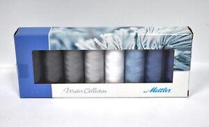Mettler Silk Finish Cotton Thread Set 8 Spools Winter