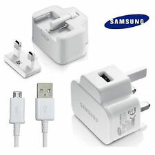 CHARGER & MICRO USB CABLE for SAMSUNG GALAXY Tab 3 8.0 WHITE 2AMP MAINS