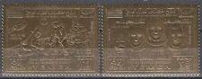 Yemen KGr 1969 ** mi.893/94 a space espacio, oro foil issue perforated