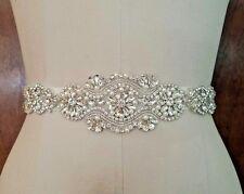 "Wedding Dress Sash Belt - Crystal Pearl SASH BELT = 12 1/4"" long"