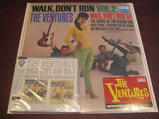 VENTURES - WALK DON'T RUN VOL 2 MONO & STEREO  JAPAN OBI CD + 180 GRAM VINYL LP