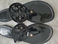 Tory Burch Black glossy Miller Sandals 8.5